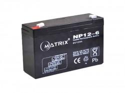 Аккумулятор MATRIX NP12-6 6В 12А*ч