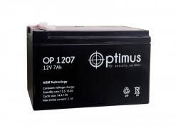 Аккумулятор 12 В 7 А*ч Optimus Россия