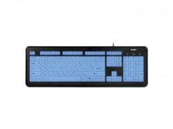 Клавиатура SVEN KB-C7300EL черно-белая
