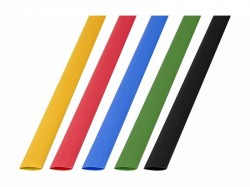 Термоусадочная трубка REXANT 8.0/4.0мм (набор 50шт. по 1 м, 5 цветов) 29-0158