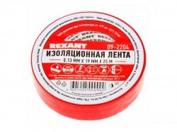Изолента REXANT 19мм х 25м, красная 09-2204