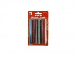 Клеевые стержни REXANT d11.3mm, L100mm, цветные (упак. 12 шт, блистер) 09-1230