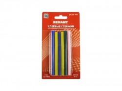 Клеевые стержни REXANT d7.4mm, L100mm, цветные (упак. 12 шт, блистер) 09-1020