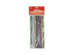 Клеевые стержни REXANT d11.3mm, L270mm, цветные с блестками (упак. 10 шт) 09-1215