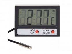 Термометр электронный REXANT комнатно-уличный с часами 70-0505