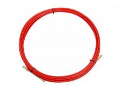 Кабельная протяжка (мини УЗК в бухте), стеклопруток d3.5мм 15м красная 47-1015