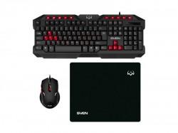 Клавиатура+мышь+коврик SVEN GS-9200 черный