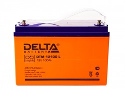 Аккумулятор Delta DTM 12100L 12В 100А*ч