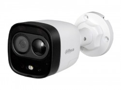 HDCVI камера Dahua DH-HAC-ME1200DP plastic+metal (2MP/2.8mm/0.02 Lux/IR20m,IP67/PIR, сирена и строб)