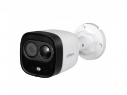 HDCVI камера Dahua DH-HAC-ME1500DP plastic+metal (5MP/2.8mm/0.02 Lux/IR20m,IP67/PIR, сирена и строб)