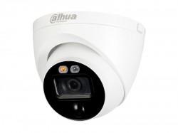 HDCVI камера Dahua DH-HAC-ME1200EP-LED-0280B plastic+metal (2MP/2.8mm/IR20m, IP67/Audio, mic, spiker, siren, PIR)