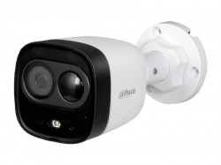 HDCVI камера Dahua DH-HAC-ME1200DP-LED-0280B  plastic+metal (2MP/1080p/2.8mm/IR20m, IP67/Audio, mic, spiker, siren, PIR)